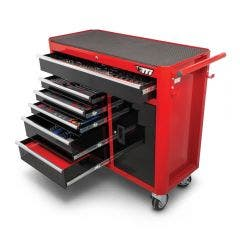 TTI 324 Piece 41inch 6 Drawer with Cabinet Tool Trolley Kit TTK41061