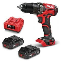 SKIL 20V Brushed 2 x 2.5Ah Drill Driver Kit DL5275E20