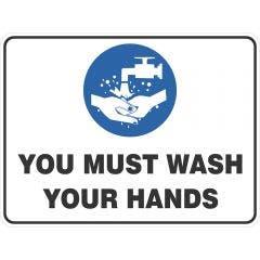 150313-wilcox-300-x-225mm-must-wash-hands-mandatory-sign-poly-m439dcp-HERO_main