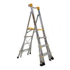 GORILLA 1.2-1.8m Adjustable Platform Ladder 180kg Industrial PL0406-HD