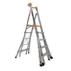 GORILLA 1.5-2.4m Adjustable Platform Ladder 180kg Industrial PL0508-HD