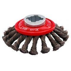 JOSCO X-LOCK 115mm 0.3mm Steel Twist Knot Wire Bevel Brush
