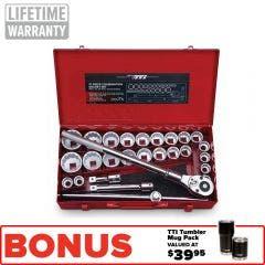 TTI 3/4inch MET/AF 27 Piece Socket Set T34VS271