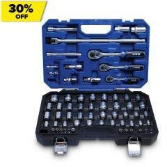 HRD 63 Piece 1/4in, 3/8in &  1/2in Drive Socket Set HMXVS63