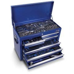 HRD 197 Piece Tool Kit 26 Inch With 7 Drawer Chest Blue HTK26071