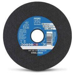 PFERD 125 x 1.0mm Steel & Stainless Cut Off Disc - SG-STEELOX - 100 Piece