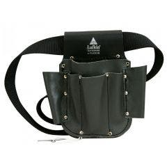 CRESCENT LUFKIN Leatherware Electricians Tool Pouch Leather Black