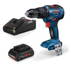 BOSCH 18V 1 x 4.0Ah Hammer Drill Kit 0615990J4D
