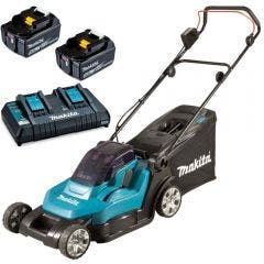 MAKITA 36V 430mm 2 x 5.0Ah Lawn Mower Kit DLM432PT2