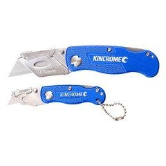 KINCROME 2 Piece Lock-Back Folding Utility Knife Set K060022
