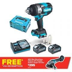 MAKITA 40V Max XGT Brushless 3/4inch Impact Wrench Kit TW001GM203