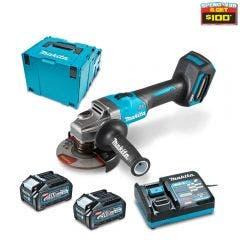 MAKITA 40V Max XGT Brushless 125mm Slide Switch Angle Grinder Kit GA005GM202