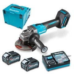 MAKITA XGT 40V Max Brushless 125mm Slide Switch Angle Grinder Kit GA005GM202
