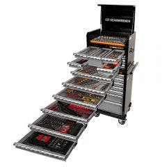 GEARWRENCH 403 Piece Tool Kit 7 Drawer 26 Inch Deep Chest with 7 Drawer Cabinet 89923