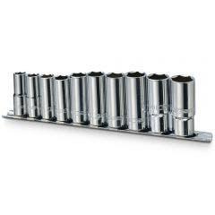 SIDCHROME 3/8inch 10-19mm SD Metric Deep Socket Set 10pc SCMT13235