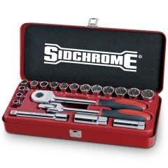SIDCHROME 1/2inchSD Metric 20 Pce 8-22mm Socket Set SCMT14208