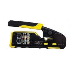 KLEIN Ratcheting Cable Crimper for Pass Thru AVDV226110