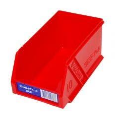 FISCHER 100 x 170 x 85mm STOR-PAK 10 Red Storage Bin 1H061R