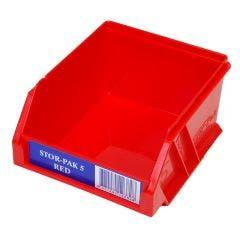 FISCHER 110 x 115 x 60mm STOR-PAK 5 Red Storage Bin 1H060R
