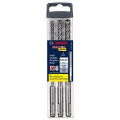 BOSCH 6-10mm 4-Cutter SDS-Plus TCT Hammer Drill Bit Set - BULLDOG XTREME - 3 Piece