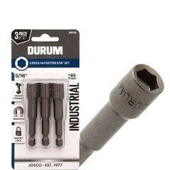 DURUM 5/16inch x 65mm Magnetic Power Nutsetter - 3 Piece