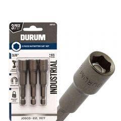DURUM 3/8inch x 65mm Magnetic Power Nutsetter - 3 Piece