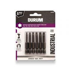 DURUM T10-T30 x 50mm Torx Power Screwdriver Bits - 6 Piece