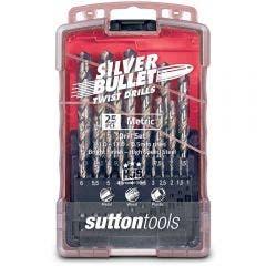 SUTTON 1-13mm Metric HSS-Bright Jobber Drill Bit Set - SILVER BULLET - 25 Piece