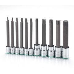 TTI 11 Piece 1/4inch & 3/8inch Dr Torx Inhex Socket Set TIHVS111