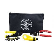 KLEIN Coax Cable Installation Kit w. Zipper Pouch A-VDV026-211