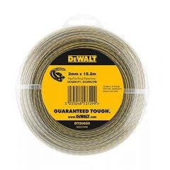 DEWALT 2mm x 15.2m Round Nylon Grass Trimmer Line - Clear DT20650-QZ