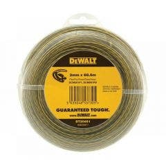 DEWALT 2mm x 68.6m Round Nylon Grass Trimmer Line - Clear DT20651-QZ