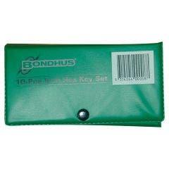 BONDHUS 10 Pce Imperial Hex Key Wallet Set