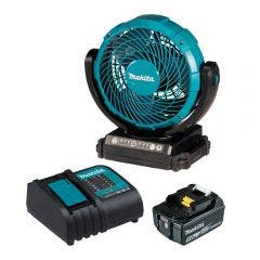 MAKITA 18V 180mm Jobsite Fan Kit with Auto Shut-Off Inflator DCF102ST