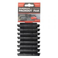 STEALTHMOUNTS 8 Pack Packout Mounting Feet - Black PAC-F-01-8