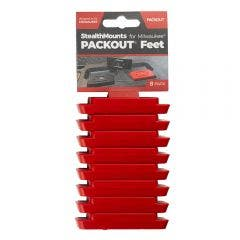 STEALTHMOUNTS 8 Pack Packout Mounting Feet - Red PAC-F-02-8