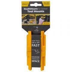 STEALTHMOUNTS DeWalt Tools XR Range 18/20v Tool Mounts Yellow - 4 Piece TMDW18YLW4