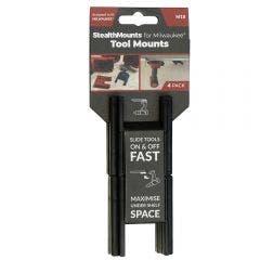 STEALTHMOUNTS Milwaukee M18 Tool Mounts Black - 4 Piece TMMW18BLK4