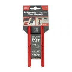 STEALTHMOUNTS Tool Mount Holder For Milwaukee M18 Red - 4 Pack TM-MW18-RED-4