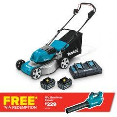 MAKITA 36V (18Vx2) 2x6.0Ah 460mm Lawn Mower Kit DLM464PG2