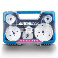 SUTTON 5 Pce Bi-Metal Holesaw Plumber Set - Cobalt H125BM7