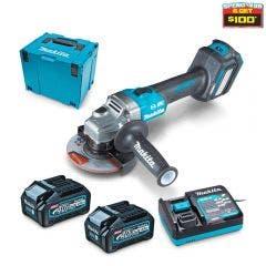 MAKITA 40V Max XGT Brushless 2 x 4.0Ah 125mm Slide Switch Angle Grinder Kit GA023GM202