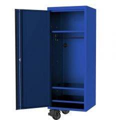 SP TOOLS 27inch USA Sumo Series Side Cabinet - 3 Fixed Shelves & Clothes Hang Rail - Blue/Black SP44885BL