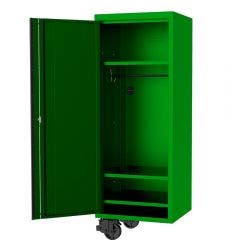 SP TOOLS 27inch USA Sumo Series Side Cabinet - 3 Fixed Shelves & Clothes Hang Rail - Green/Black SP44885G