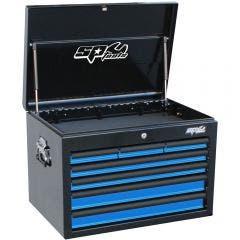 SP TOOLS 7 Drawer Deep Custom Series Tool Box - Blue/Black SP40102BL