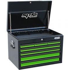 SP TOOLS 7 Drawer Deep Custom Series Tool Box - Green/Black SP40102G