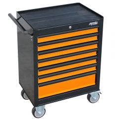 SP TOOLS 7 Drawer Custom Series Roller Cabinet - Orange/Black SP40104OR