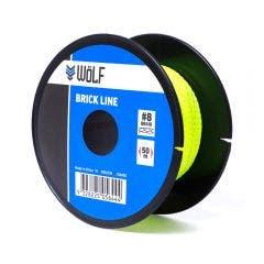 WoLF 50m Fluro Green Brick Line WBL004