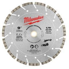 MILWAUKEE 230mm Diamond Segmented Blade for UNIVERSAL Purpose Cutting