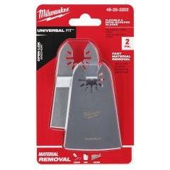MILWAUKEE 2 Piece OPEN-LOK 50mm Rigid & 50mm Flexible Scraper Variety 49252202